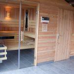 Overkapping + sauna